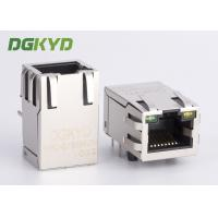 Quality Telecom connector with integrated magnetics RJ45 modular Jack Single Port 25.4mm for sale