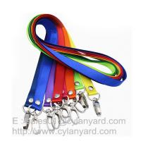 Quality Personalized nylon lanyard with your logo print, small wholesale lot nylon neck straps for sale