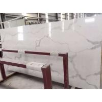 Quality Wholesale Grey Veins White Calacata Quartz Stone for Kitchen Countertop for sale