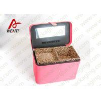 Best Leopard Printed Cosmetics Foldable Paper Box With Mirror Matte Lamination Suface wholesale