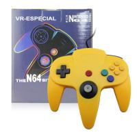 Quality Yellow N64 Game Controller ABS Plastic Material Comfortable Long Service Life for sale