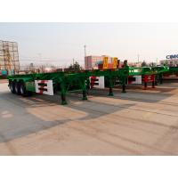 China 20ft 40 ft size fuwa axle skeletal container trailer - CIMC Vehicle on sale