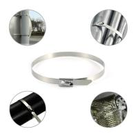Quality Nylon Coated Releasable Stainless Steel Cable Ties Manul - Locking Good Insulation for sale