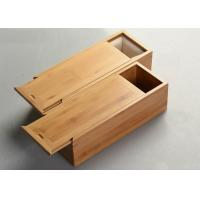 Quality Hot Stamp Single Wooden Wine Glass Box , Wooden Crate Storage Box 35 * 10 * 10cm for sale