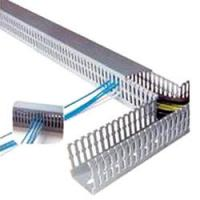 Quality PVC Wiring Ducts, Electrical Plastic trunkings insulation corrosion resistance for school for sale