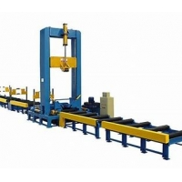 Quality Less Deformation OTC Corrugated Web Assembling H Beam Production Line for sale