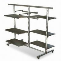 Quality Clothing Display Stand with Steel Tubing and 4 Industrial Wheels for sale