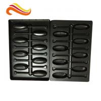 Buy cheap Recyclable Electronic Component Packages Black PET/PVC/PS Large Plastic Tray from wholesalers