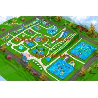 Quality 2017 Hot Sale Business Plan Outdoor Giant Commercial Frame Pool Type Land Inflatable Water Park For Kids And Adults for sale