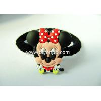 Quality Promotion bulk lady girls women hair ties hair holder with pvc 3d figures fashion hair accessory custom for sale