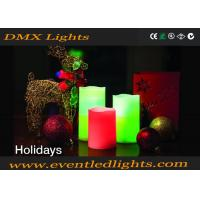 China Party Warm White Decorative Led Flameless Candles Red / Green CE ROHS UL on sale