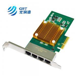 Quality Intel I350 chipset based PCIe 1000Base-T 4 Port copper Ethernet Network Card for sale