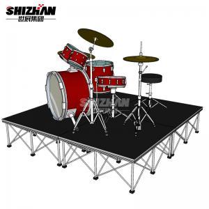 Quality 4x8 Stage Platform Deck Drum Riser TUV Certified for sale