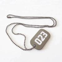 China Wholesale soft enamel silver zinc metal dog tag with ball chain for souvenir; on sale