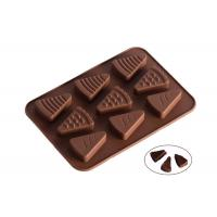 Quality 9 Cavaties Silicone Chocolate Molds , Ice Cream Shape Chocolate Candy Molds for sale