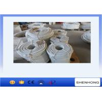 China Raw White 16mm Double Braided Nylon Rope to Pull During Tower Eerection on sale