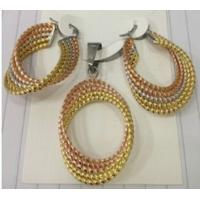 Quality Costume Jewelry Three Color Fashion 316L Stainless Steel Jewelry Sets for Women for sale