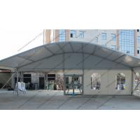 Quality Durable Glass Window Hexagon Dome Tent Convenient White Alumimun Frame for sale