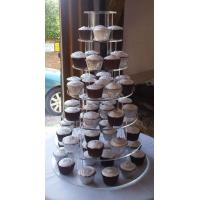 Best 4-Tiers Square Acrylic Cupcake Display wholesale