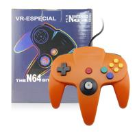 Quality Durable Orange N64 Controller Joystick , Nintendo 64 Gamepad 10 Function Buttons for sale