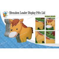 Buy cheap Free Standing Cardboard Display Stands With Horse Graphic from wholesalers