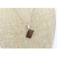 Quality Rose Gold Plated 304 Stainless Steel Pendant Necklace Square Shape For Gifts for sale