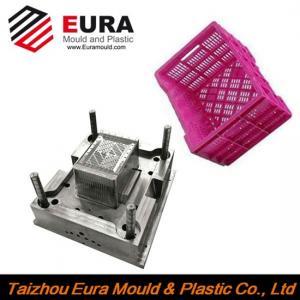 Quality EURA Zhejiang Taizhou plastic fruit crate injection mold making for sale
