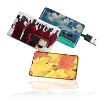 Quality colorful logo print promotional OEMcredit card USB drives 512mb 1g 2g 4g 8g 16g for sale