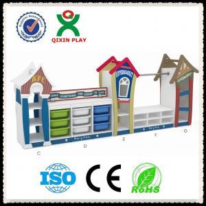 Best China Hot sale kids wooden toy shelf toys storage shelf kindergarten toys shelf QX-199B wholesale