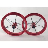 """Quality Super Light 12"""" Bearing Type Aluminum Alloy Kids Balance Bike Wheelset Children Bicycle Wheels 84 90 95mm Red Color for sale"""