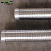 Quality Continuous Slot Water Well Screen Pipe Wire Wrapped High Pressure Resistant for sale