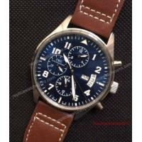 Quality Low Price IWC Big Pilot Day Date Watch SS Blue Automatic 43mm for sale