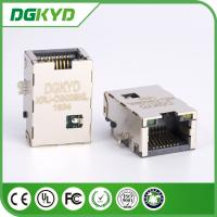 China Plate RJ45 PCB Connector , Network Port RJ45 Vertical with Plating on sale