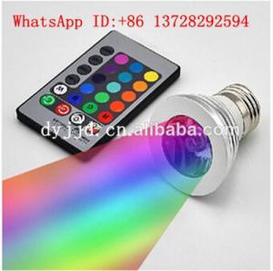 Best led magic bulbs light E27 remote control RGB led lighting 3w screw led bulbs wholesale