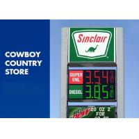China Digital LED Price Signs For Gas Stations / Custom 3D LED Message Display on sale