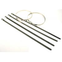Quality High tensile strength outdoor long  #304 Stainless steel cable tie for cables, poles for sale