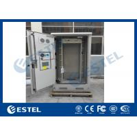 Galvanized Steel Thermostatic Outdoor Telecom Cabinet , Outdoor Electronics Cabinet