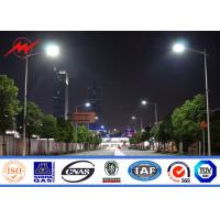 Best School / Villas Steel High Mast Street Lamp Poles With Drawing 1.0 Safety Factor wholesale