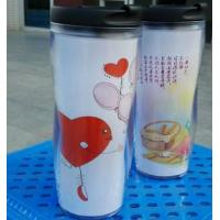 China 450ML Heat Sensitive Color Change Double Wall Plastic Cup SGS Standard on sale