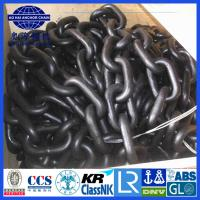 China 6~50mm BM1 BM2 BM3 Black Painted studless Anchor Chain with certification on sale