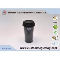 China Custom Black Double Wall Plastic Cup for Variety Children's Day Gift on sale