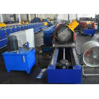 Quality Storage Rack Vertical Post Section Roll Forming Machine With Punching Unit For Various Patterns for sale