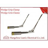 Quality Harden Aluminum Porcelain Wedge Grip Clamp Conduit Tools Stainless Solid Bail for sale