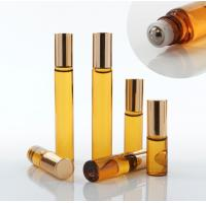 Quality Glass Empty Roller Bottles For Essential Oils , 10ml 30ml Roll On Deodorant Bottles for sale