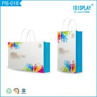 China Bright Blue Paper Gift Bags , Cardboard Small Paper Favor Bags Packaging For Baby Clothes on sale
