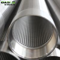 Quality 6 Inch AISI304L Well Casing Pipe , V / Wedge Shaped Silver Wedge Wire Filter for sale