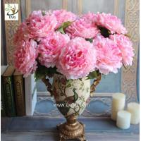 China UVG FPN101 Dining table centerpieces pink artificial peony silk flower arrangements for party decoration on sale
