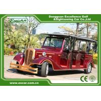 Quality Classic Design Red Vintage Golf Car Tourist Car With CE Approved for sale