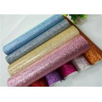 Quality Shoes Bags Wallpaper Glitter Fabric Roll Knitted Backing Technics 0.6mm Thickness for sale