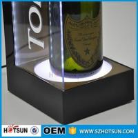 Quality Made in China customized bar display acrylic wine bottle led display for sale
